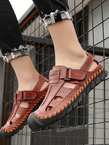 Men Leather Beach Outdoor Sandal Shoes