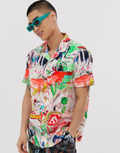 Load image into Gallery viewer, Men Graffiti Print Shirt