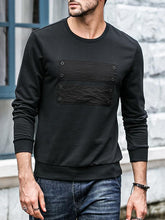 Load image into Gallery viewer, Men Long Sleeves Round Neck Sweatshirt
