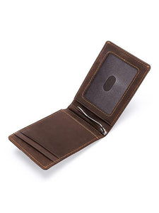 Solid Fashion Simple Leather Wallet