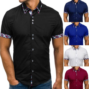 Men Cotton Long Sleeve Blouse Shirts