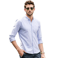 Load image into Gallery viewer, Men Long Sleeves Business Casual Shirt