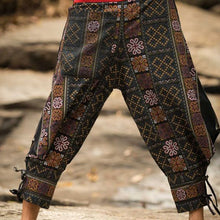 Load image into Gallery viewer, Men Wide Leg Geometric Casual Pants