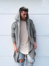Load image into Gallery viewer, Men Pure Color Casual Hoodie Cardigan