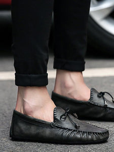 Solid Slip-on Casual Simple Flat Shoes