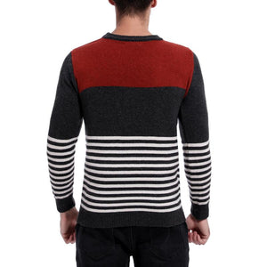 Men Striped Knitted Sweater Tops