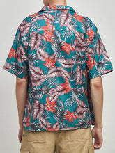 Load image into Gallery viewer, Men Lapel Short Sleeves Printed Shirt