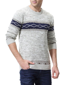 Men Casual Round Neck Sweater Tops