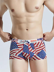 4PCS Men's Printed Boxer Underwear