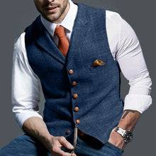 Load image into Gallery viewer, Men Classic Herringbone Waistcoat