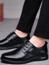 Load image into Gallery viewer, Men Lace-up Simple Leather Shoes