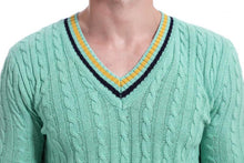 Load image into Gallery viewer, Men V Neck Knitted Sweater Tops