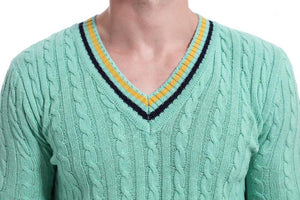 Men V Neck Knitted Sweater Tops