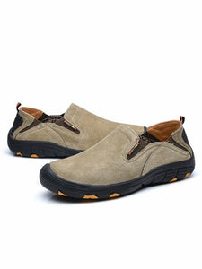 Men Casual Slip-on Lace-up Flat Shoes