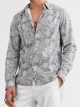 Load image into Gallery viewer, Men Lapel Printed Shirt
