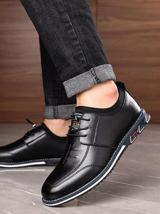 Men Casual Lace-up Fashion Flat Shoes