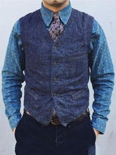 Load image into Gallery viewer, Men V-Neck Classic Herringbone Waistcoat