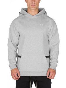 Men  Solid Pocket Hoodie Sweatshirt