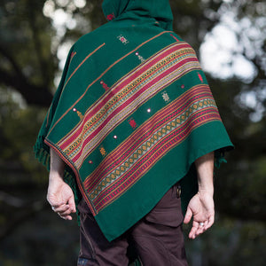 Men Hooded Poncho Boho Style Shawl