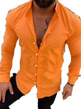 Load image into Gallery viewer, Men's Solid Blouse Shirt Tops