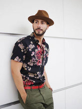 Load image into Gallery viewer, Men Printed Lapel Shirt