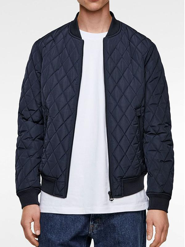 Men Lozenge Casual Jacket