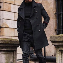 Load image into Gallery viewer, Men Revere Collar Solid Outerwear Coat