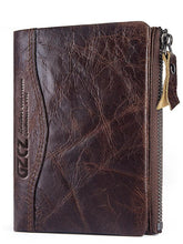Load image into Gallery viewer, Leather Zipper Multi-layer Pocket Wallet