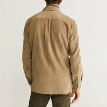 Load image into Gallery viewer, Men Corduroy Solid Long Sleeves Shirt
