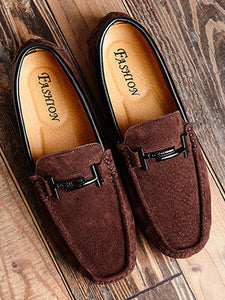 Solid Slip-on Casual Flat Loafers Shoes