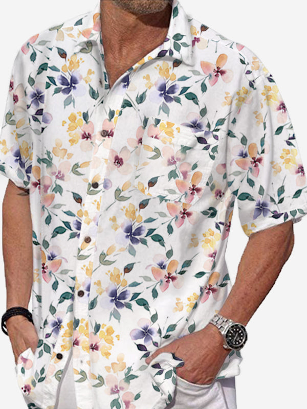 Men Short Sleeves Vacation Shirt