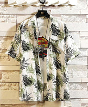 Load image into Gallery viewer, Men Printed Short Sleeve Blouse Shirts