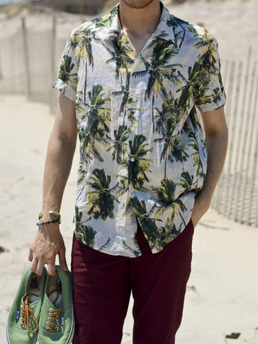 Men Holiday Printed Shirt