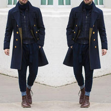 Load image into Gallery viewer, Men Revere Collar Double Breasted Coat