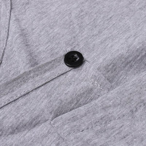 Men Button Basic T-Shirt