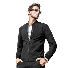 Load image into Gallery viewer, Men Casual Stand Collar Flight Jacket