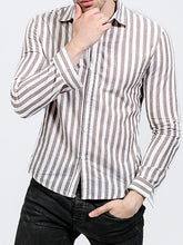 Load image into Gallery viewer, Men Long Sleeve Stripe Shirt