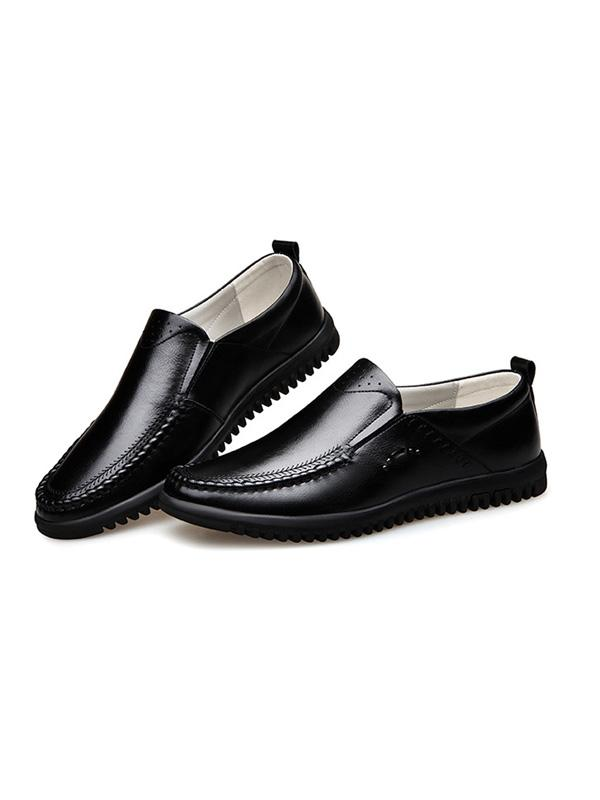 Men Solid Simple Slip-on Loafers Flat Shoes