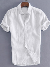 Load image into Gallery viewer, Mens Short Sleeves Simple Blouses&shirts