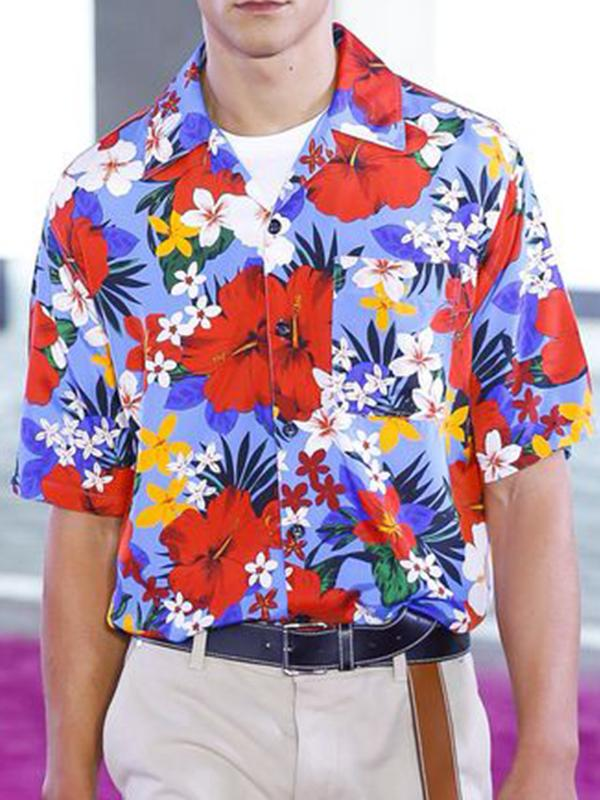 Men Floral Printed Shirt