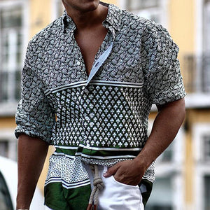 Men Urban Style Print Shirt