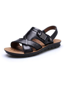 Solid Simple Casual Flat Sandal Shoes