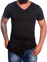 Load image into Gallery viewer, Men Button Basic T-Shirt