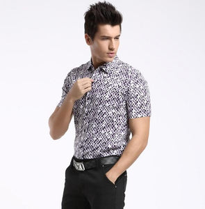 Men Short Sleeves Printed Shirt