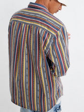 Load image into Gallery viewer, Men Striped Fashion Long Sleeves Shirt
