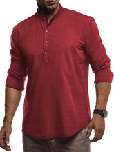 Load image into Gallery viewer, Men Pure Color Casual Polo Top