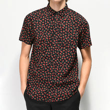 Load image into Gallery viewer, Men Rose Printed Short Sleeve Blouse