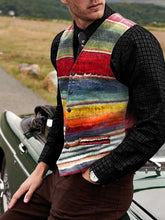 Load image into Gallery viewer, Men Rainbow Striped Waistcoat