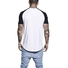 Load image into Gallery viewer, Men Short Sleeves Splicing T-Shirt