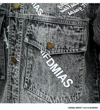Load image into Gallery viewer, Men Printed Denim Jacket Coat
